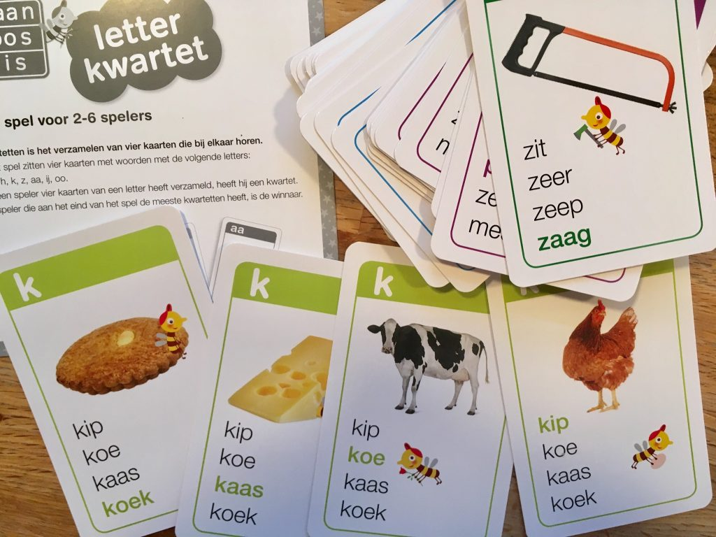 Maan Roos Vis Letterkwartet spelletjes