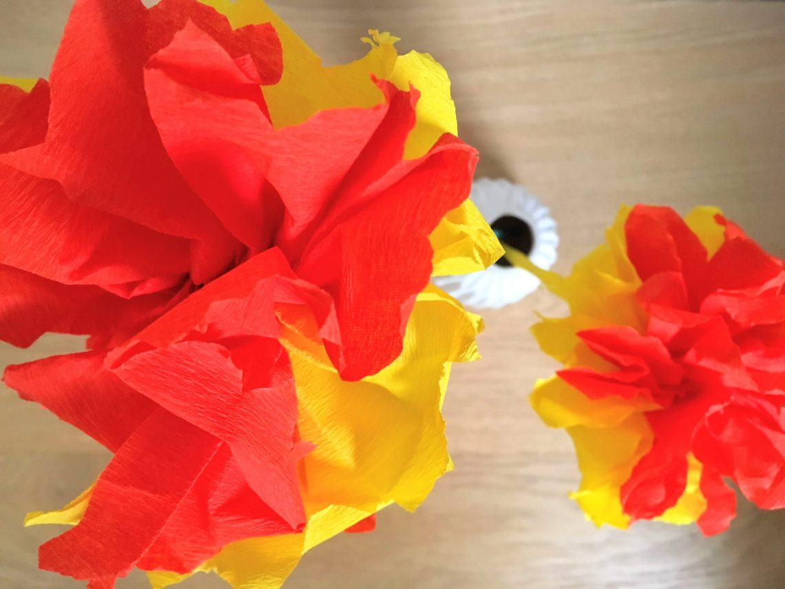 diy bloem van papaier